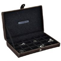 Jacob Jones 73084 24pc Cambridge Grey Cufflink Box.